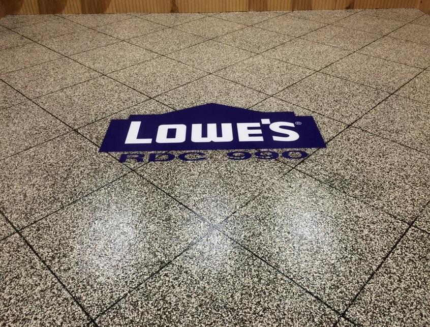 Embedded Floor Logo | Altoona, Iowa